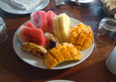 Kilwa Beach Lodge Breakfast